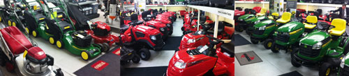View our extensive range of the latest lawnmowers